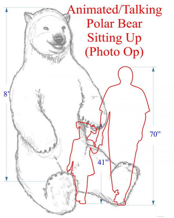 Animated Talking Polar Bear